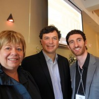 At Tuesday's Generation Flux youth forum at Amici's Banquet and Conference Centre in Thorold, speakers (left) Mario De Devitiis of NEXT Niagara, Ian Bird, CEO of Community Foundations of Canada and Mary Wiley of Niagara Connects